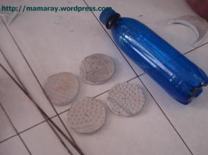 gunting karet sandal, bentuk lingkaran (untuk roda)